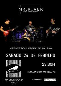 cartel concierto mr.river en la iguana
