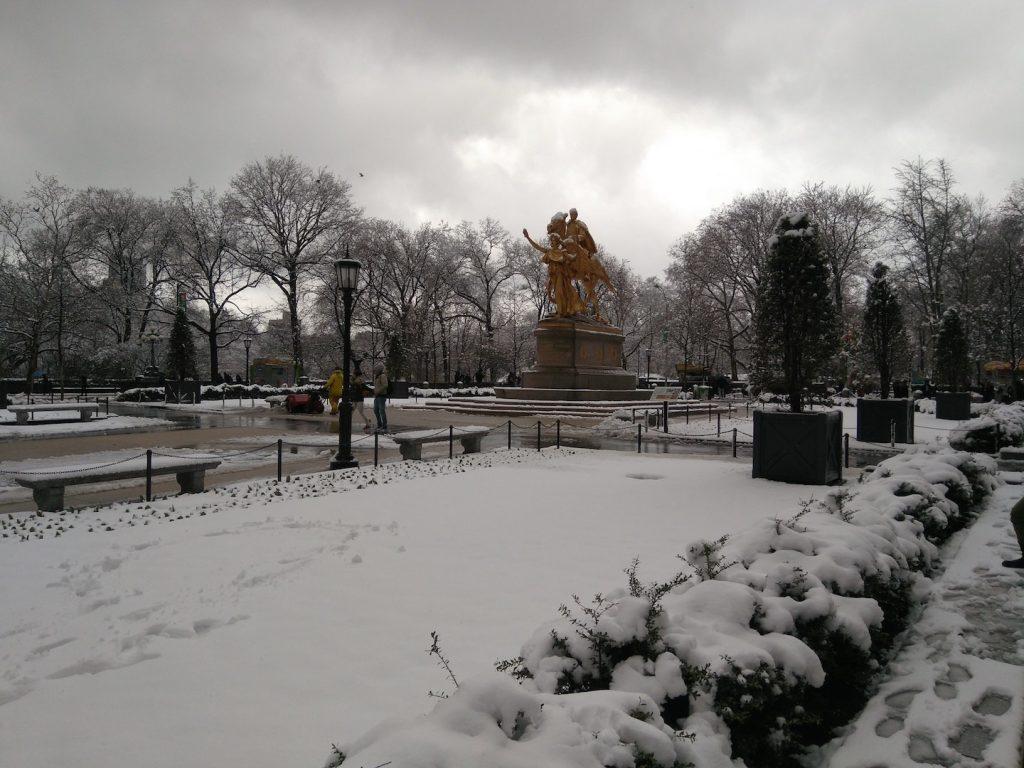 nieve en Manhattan
